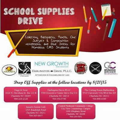 "Thomasboro Academy  ""School Supplies Drive"""